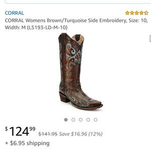 Corral western leather boots. NIB